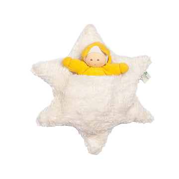 Nanchen Organic Doll - Star Baby in Bed | Oompa Toys