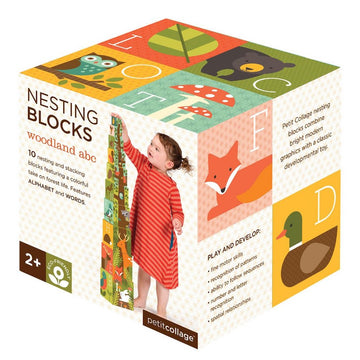 Woodlands ABC Nesting Blocks - Petit Collage - Oompa Toys