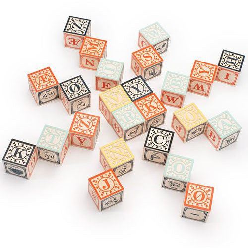 Norwegian Wooden Alphabet Blocks, Uncle Goose