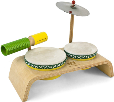 Green Tones Beginner Drum Set - Greentones - Oompa Toys