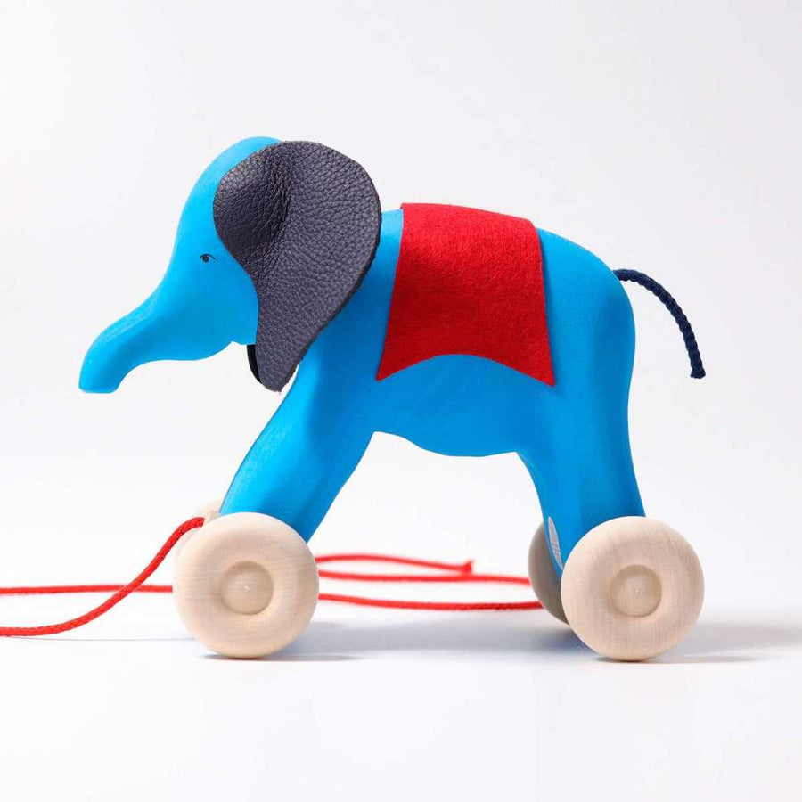 Otto Elephant Push Toy - Side View - Grimm's Spiel & Holz - Oompa Toys