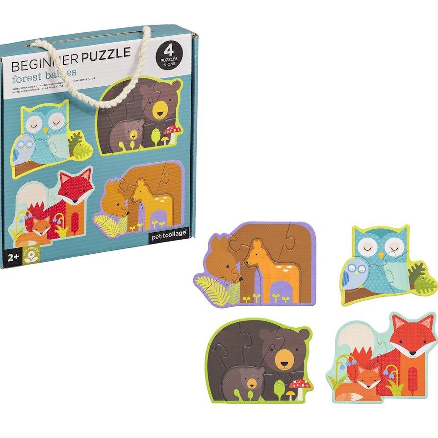 Petit Collage Forest Babies Beginner Puzzle - Oompa Toys