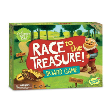 Peaceable Kingdom | Race to the Treasure Cooperative Board Game | Oompa Toys