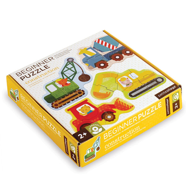 Petit Collage Beginner Toddler Puzzles - Construction