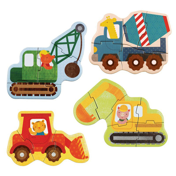 Petit Collage Construction Beginner Puzzle Set