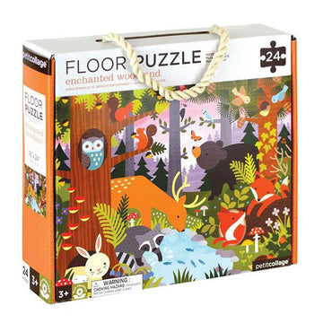 Petit Collage Enchanted Woodland Floor Puzzle Box