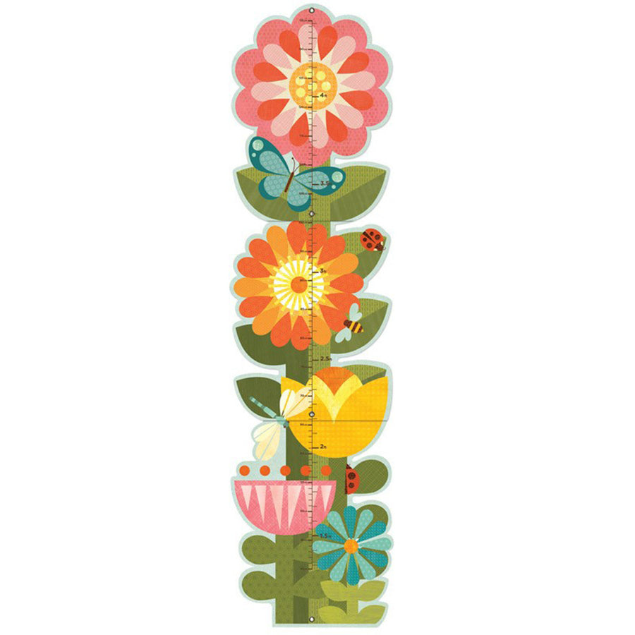 Petit Collage - Garden Flowers Growth Chart