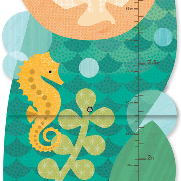 Petit Collage - Mermaid Growth Chart