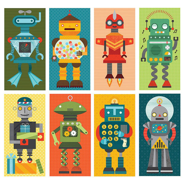 Petit Collage Mix and Match Cards - Puzzle Game - Robot Remix