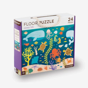 Petit Collage Ocean Life Floor Puzzle Box