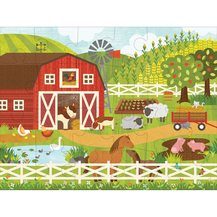 Petit Collage - On The Farm Floor Puzzle