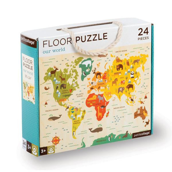 Petit Collage Our World Floor Puzzle Box