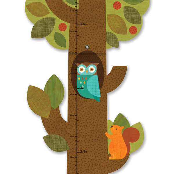 Petit Collage - Tree Friends Growth Chart - Detail