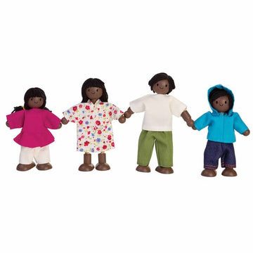 Plan Toys Dollhouse Family - African-American -7416 - Bella Luna Toys