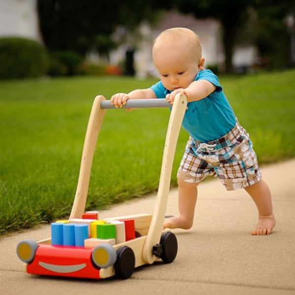 plantoys wooden baby walker - oompa toys