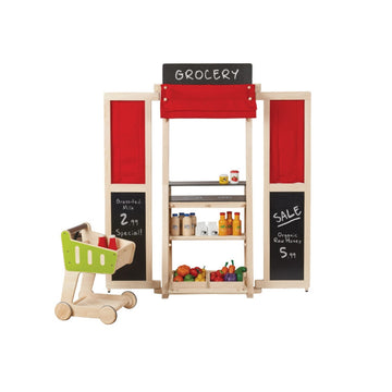 Plan Toys Wooden Play Center - Grocery Store - Oompa Toys