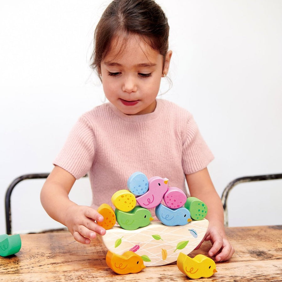 Rocking Baby Birds with Girl - Tender Leaf Toys - Oompa Toys