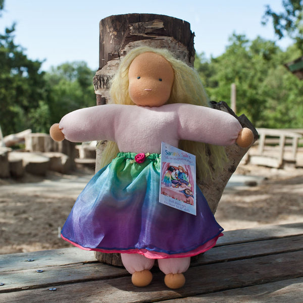 Silk Rainbow Doll Fairy Skirt