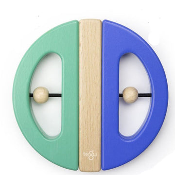 Wooden Swivel Bug - Blue and Teal - Tegu - Oompa Toys