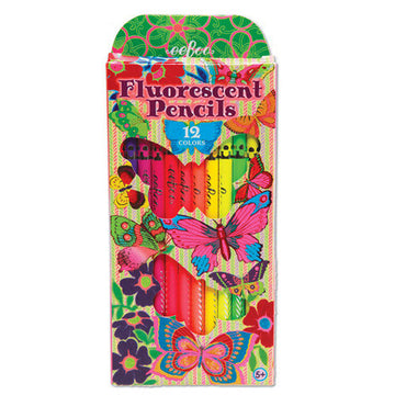 Fluorescent Butterfly Pencils