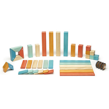 Tegu Magnetic Wooden Blocks - 42 Piece Set - Sunset