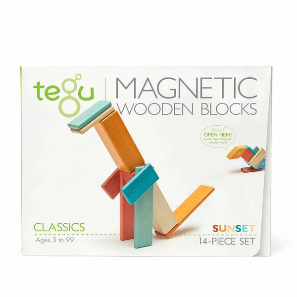 Tegu Magnetic Blocks - 14 Piece Set - Sunset