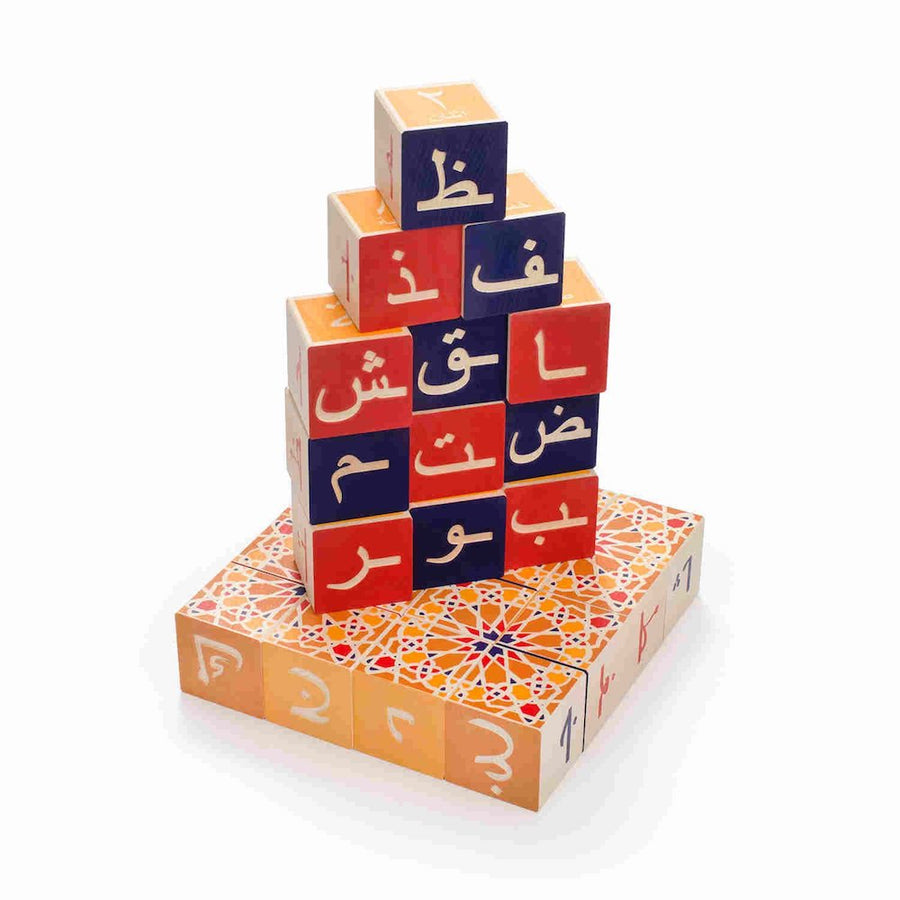 Uncle Goose Arabic Wooden Alphabet Blocks - Oompa Toys