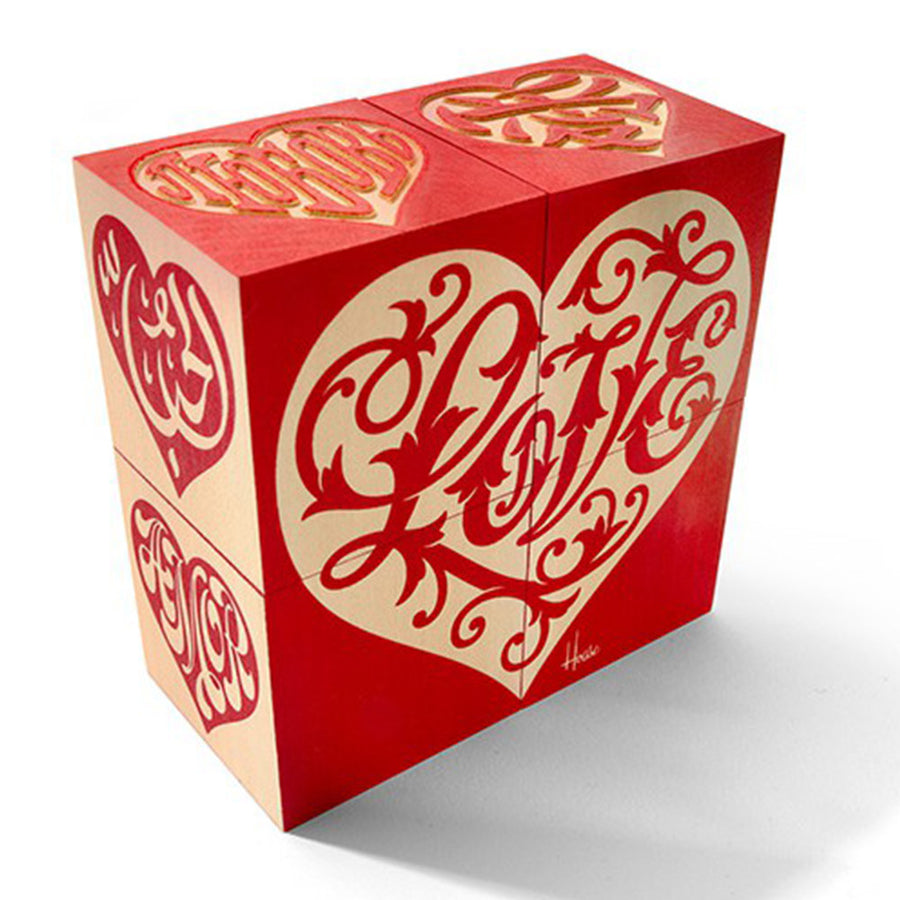 Love Heart Wooden Blocks