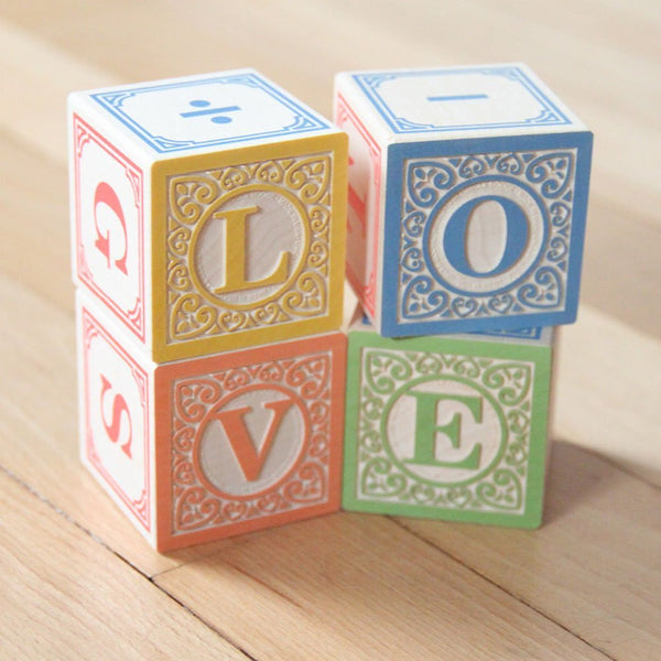 Flyer Wagon with Classic Wooden Alphabet Blocks