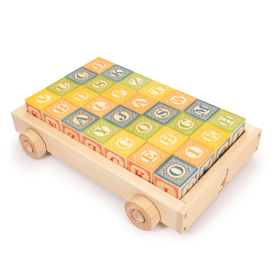 Classic ABC Blocks in Wagon - Uncle Goose - Oompa Toys