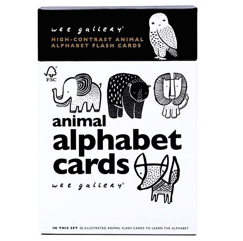 Wee Gallery Animal Alphabet Flash Cards