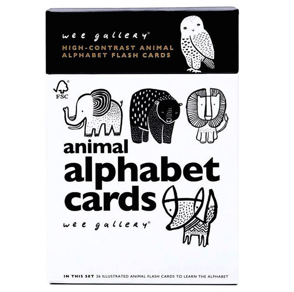 Wee Gallery Animal Alphabet Flash Cards Oompa Toys
