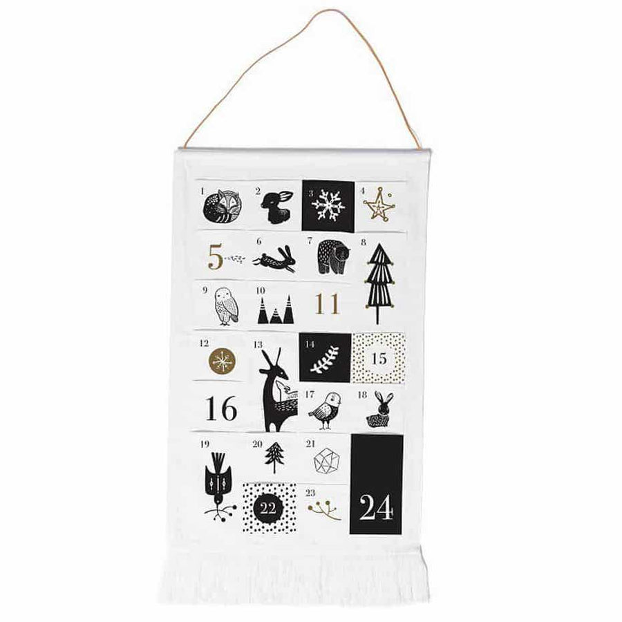 Wee Gallery Advent Calendar - Organic Canvas - Black and White | Oompa Toys