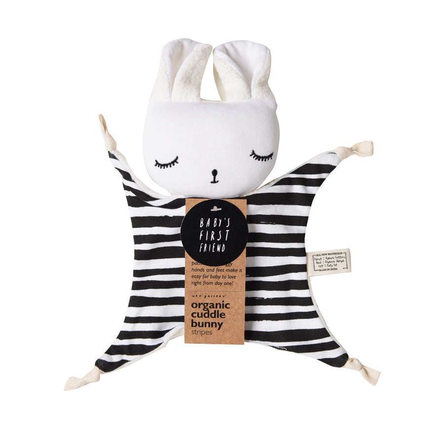 Wee Gallery - Stripes Organic Cuddle Bunny | Oompa Toys