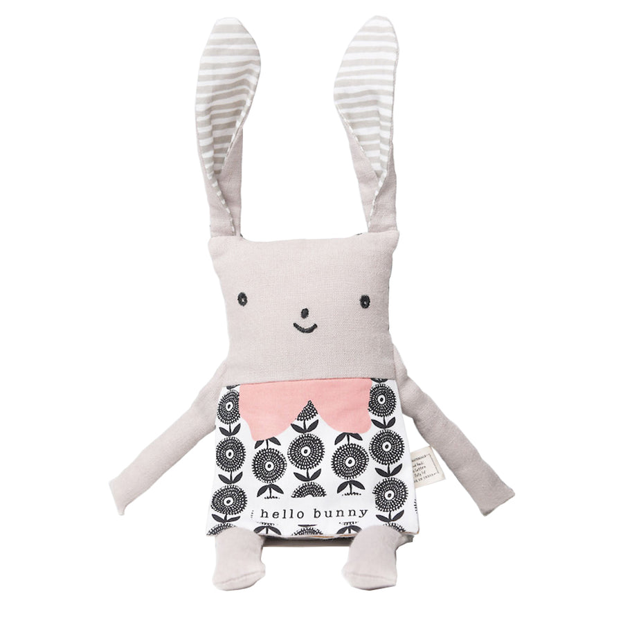 Wee Gallery - Flippy Bunny Rabbit - Organic Plush Baby Toy - Oompa Toys