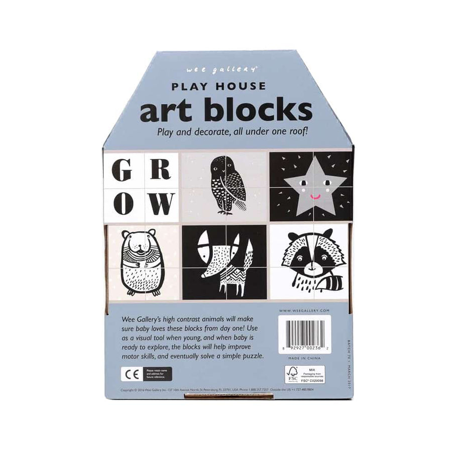 Wee Gallery - Grow Playhouse Art Block - Oompa Toys - Back