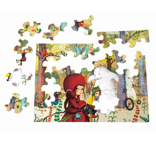 Meeting in the Forest - Wooden Jigsaw Puzzle (24 Pc)