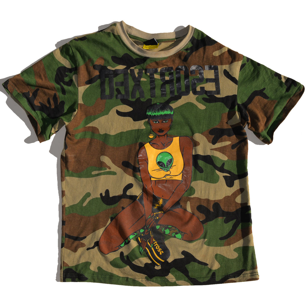 "Dextrose Bowl Cut ""Brown"" Tee - Camouflauge"