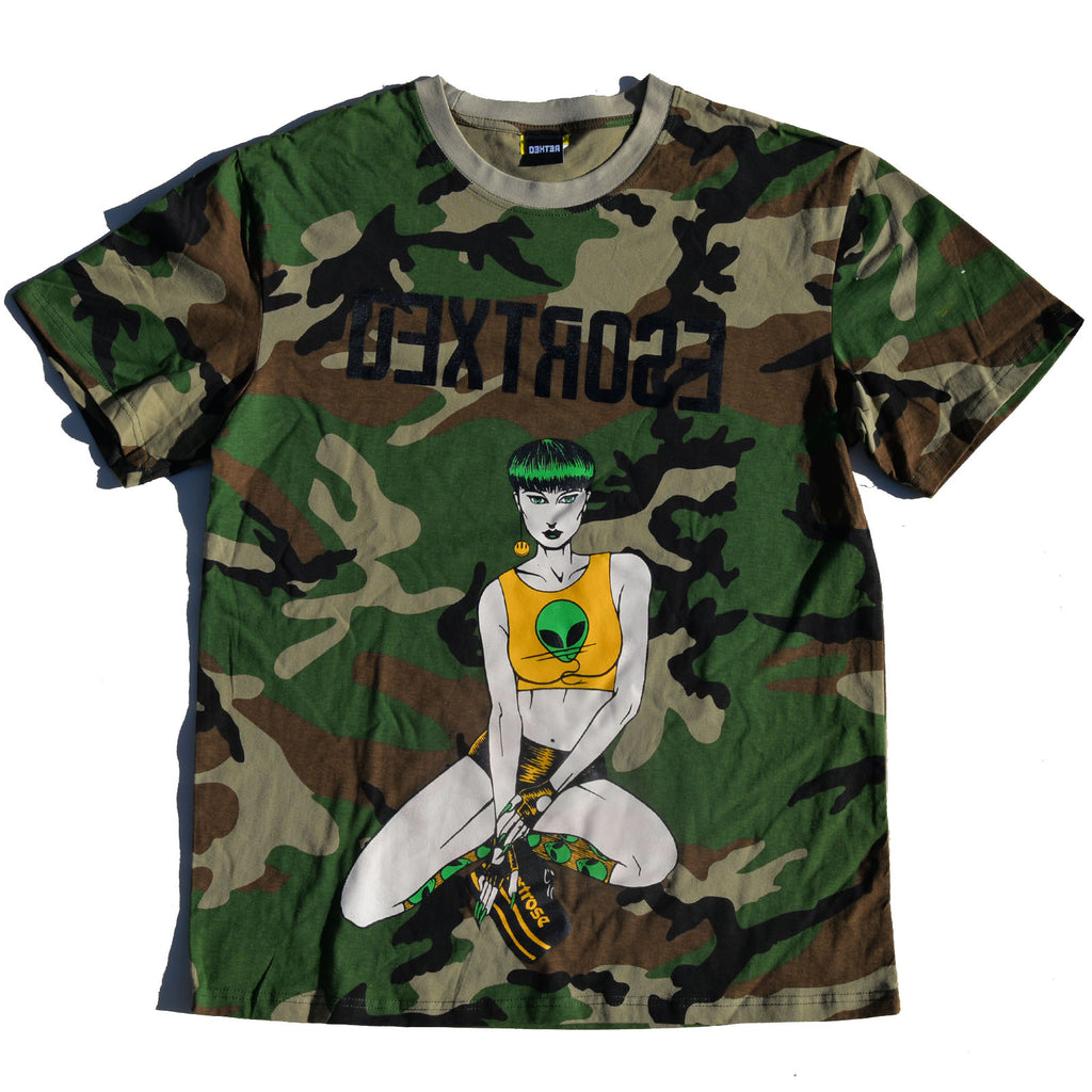"Dextrose Bowl Cut ""Light"" Tee - Camouflauge"