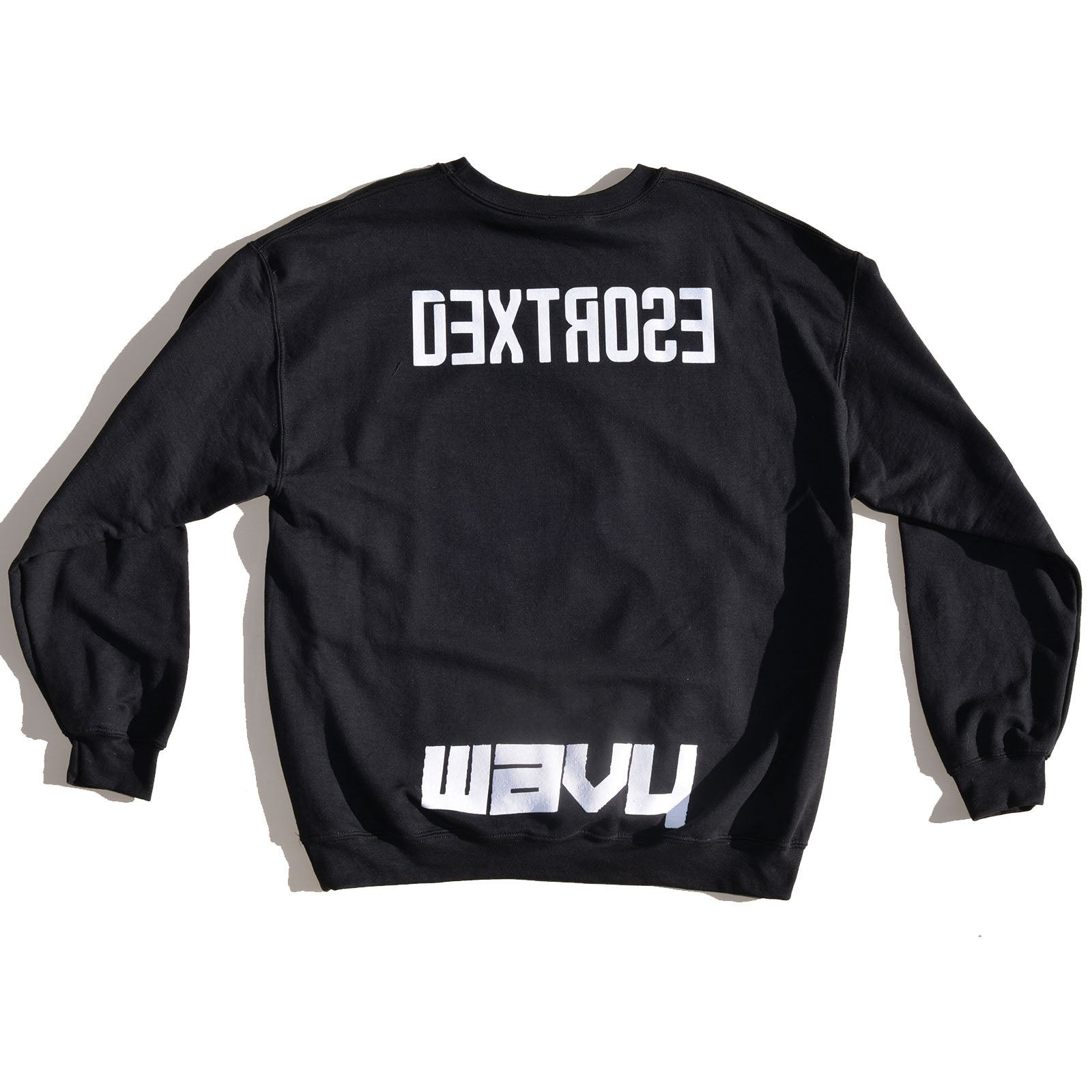 "Dextrose Bowl Cut ""Brown"" Crewneck - Black"