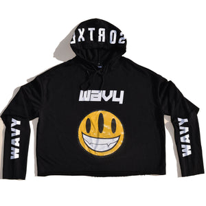 Dextrose Three-Eyed Smiley Hoodie - Black