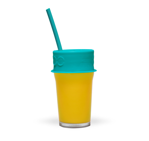 plastic free reusable silicone lid and straw - LuumiLife