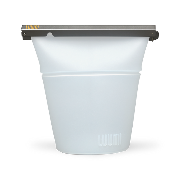 plastic free reusable silicone bag that folds into a bowl (large) - LuumiLife