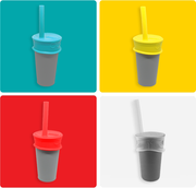 plastic free reusable silicone Bubble Tea Lid + Straw - LuumiLife