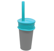 4 pack plastic free reusable silicone Bubble Tea Lid + Straw - LuumiLife