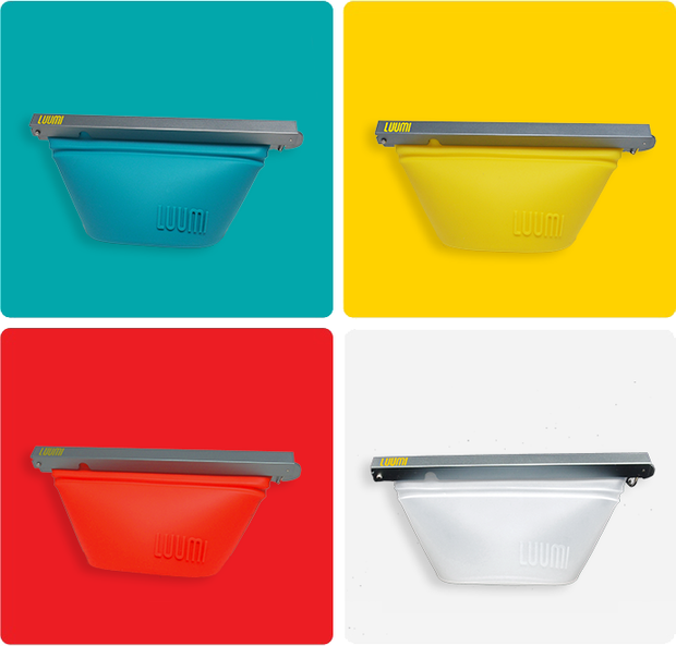 plastic free reusable silicone bag that folds into a bowl (small) - LuumiLife