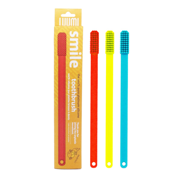 plastic free reusable silicone toothbrush - LuumiLife