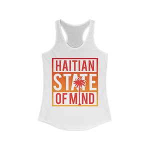 Red Haitian state of mind Racerback Tank