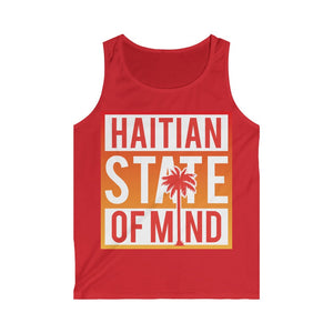 Red Haitian state of mind Tank Top