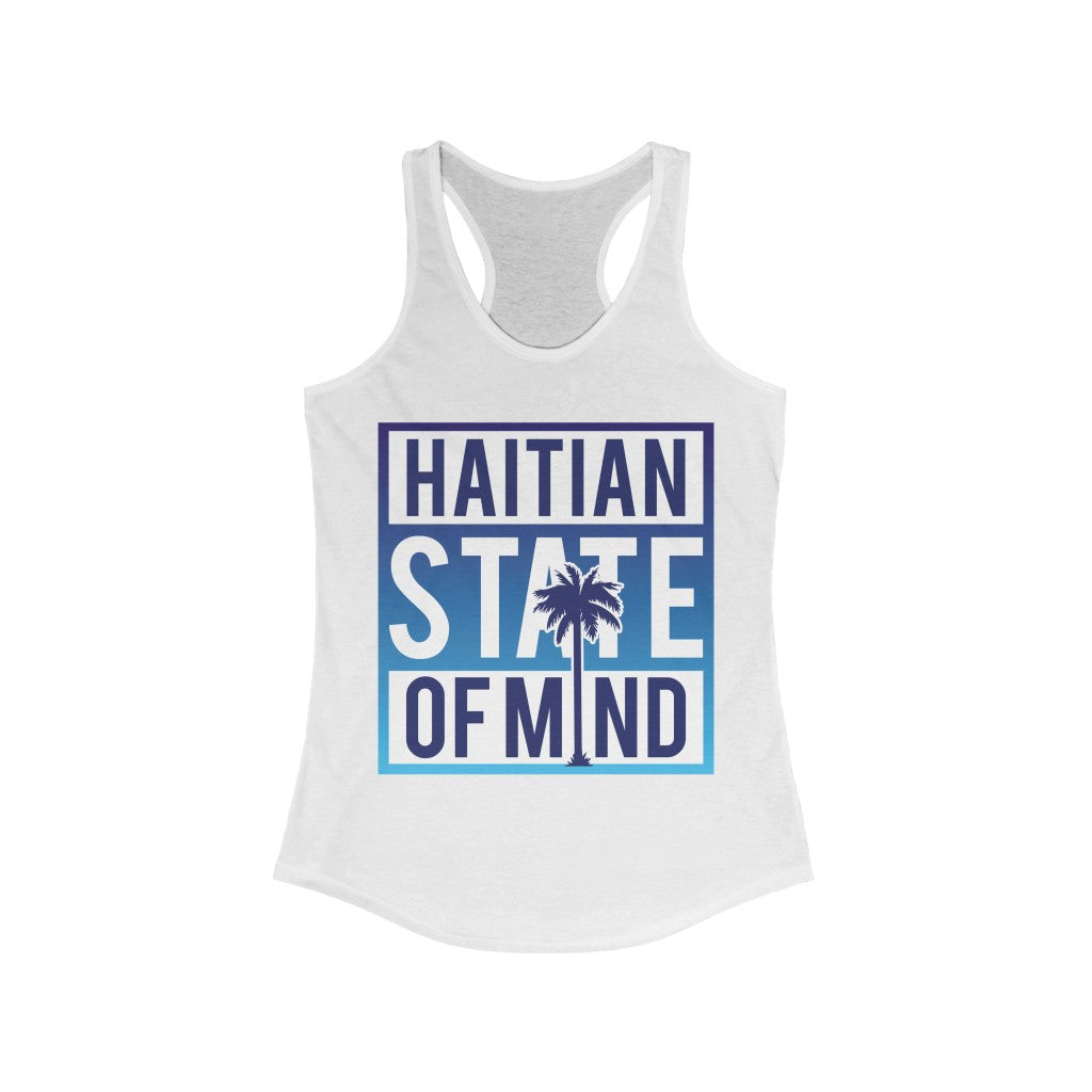 Blue Haitian state of mind Racerback Tank